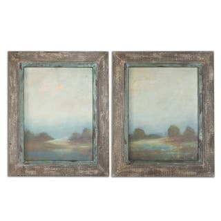Uttermost Morning Vistas Set of 2 Framed Canvas - Brown - 25 x 32