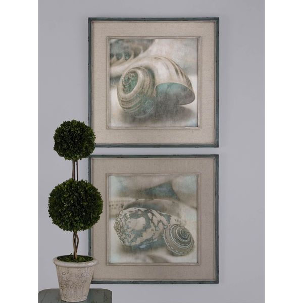 uttermost john seba coastal gems 2 piece framed canvas art set