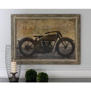 Uttermost Dylan Matthews 'Ride' Framed Canvas Wall Art Piece