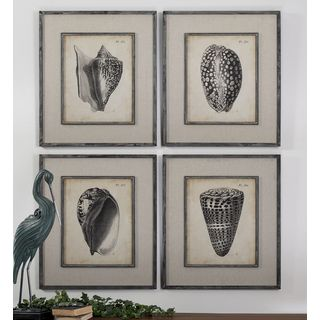 Uttermost Vision Studio 'Vintage Diderot Shells' 4-piece Canvas Art Set