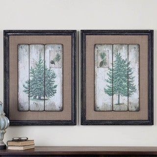 Uttermost Unique Home 'Evergreens' 2-piece Giclee Canvas Art Set