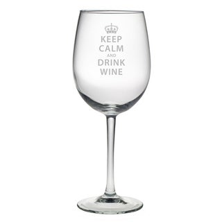 Keep Calm and Drink Wine' Glass (Set of 4)