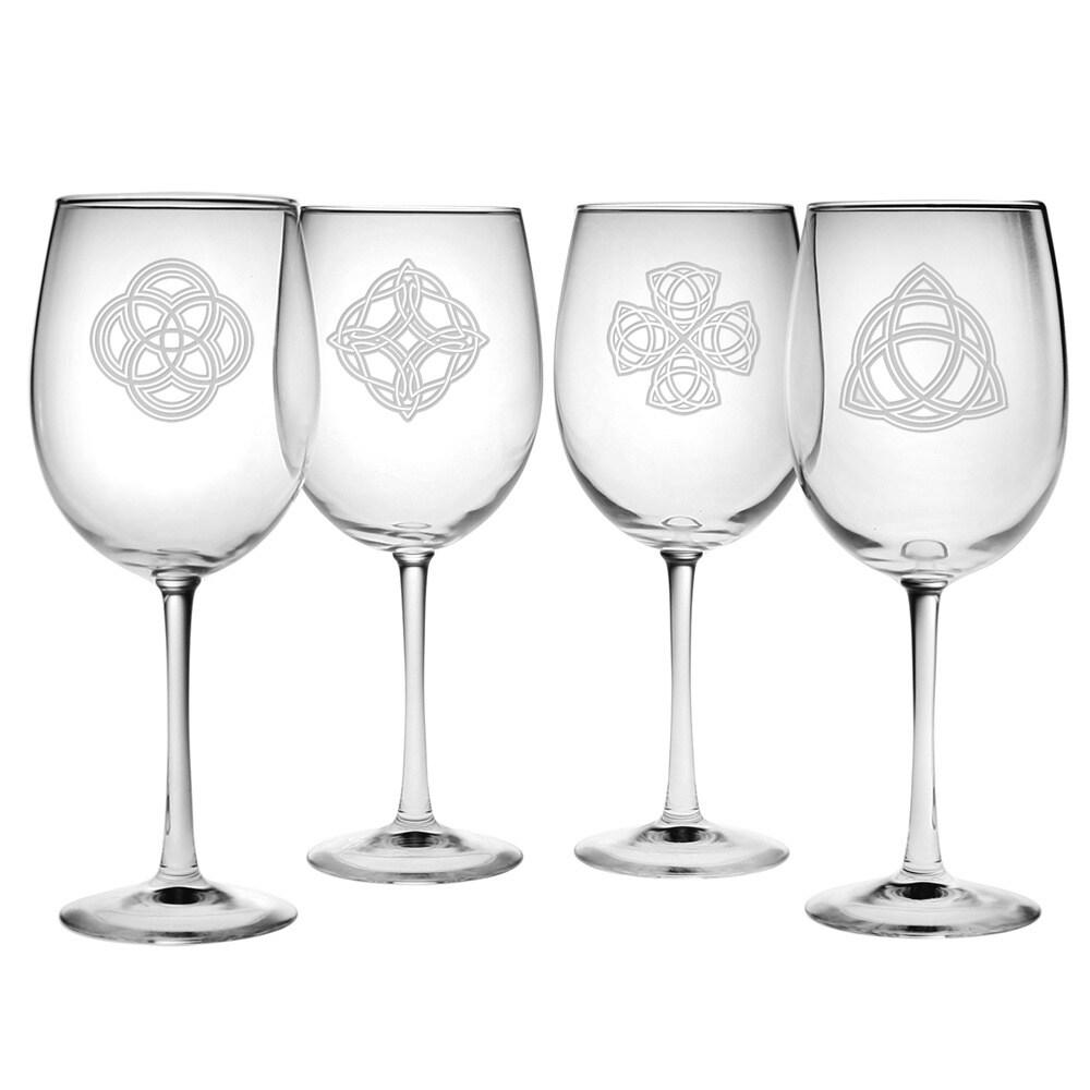 Susquehanna Glass Celtic Knots Collection Wine Glass (Set...