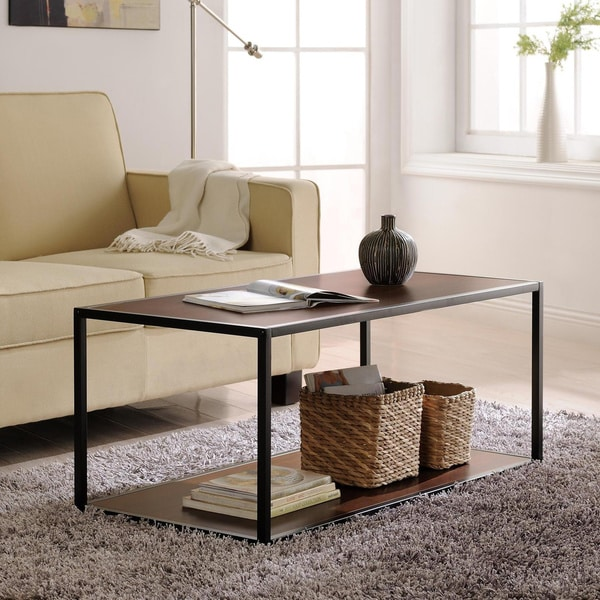 Ameriwood Home Metal Frame Coffee Table Free Shipping