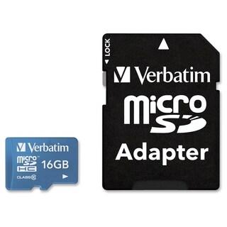 Verbatim 16GB Tablet microSDHC Memory Card, UHS-1 Class 10 Blue - TAA