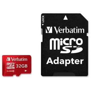 Verbatim 32GB Tablet microSDHC Memory Card, UHS-1 Class 10 Red - TAA
