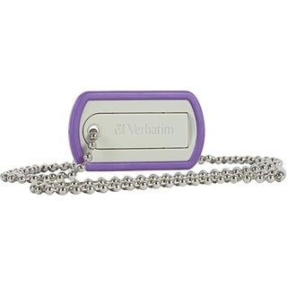 Verbatim 16GB Dog Tag USB Flash Drive - Violet