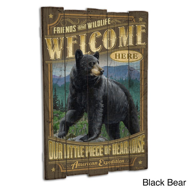 American Expedition Wooden Cabin Sign