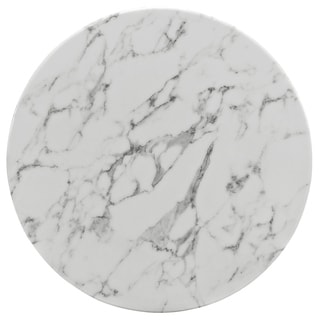 "Lippa Marble 28"" Dining Table in White"
