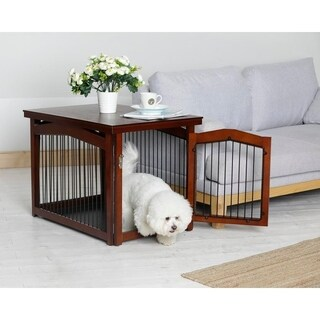 Merry Products 2-in-1 Configurable Pet Crate and Gate (2 options available)