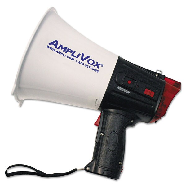 AmpliVox 10W Safety Strobe Light Megaphone