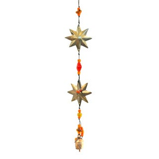 Handmade Double Stars Wind Chime , Handmade in India