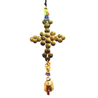 Handmade Bubble Cross Wind Chime (India)