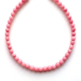 Every Morning Design Blush Pink Faceted Jade Necklace
