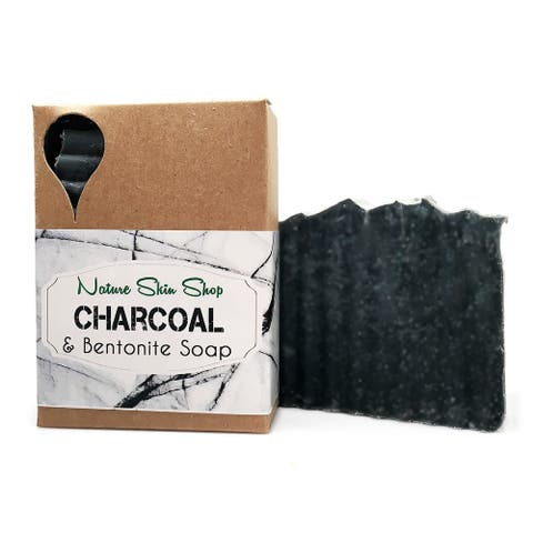 Handmade 5 Ounce Detoxifying Activated Charcoal and Bentonite Clay Soap