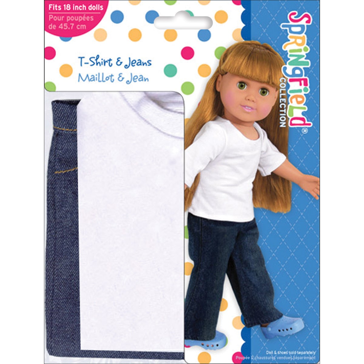 for 18 inch Doll Fiber Craft Springfield Collection Sleepover Doll Clothes Set