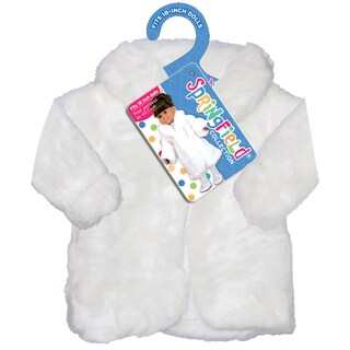 Springfield Collection Fur Coat-White
