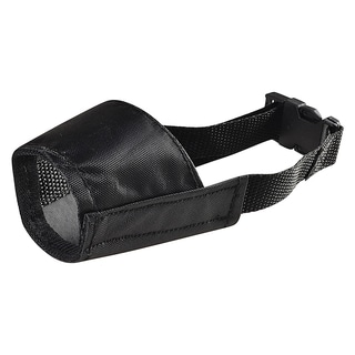 Insten Black Size 1 Strong Fabric Nylon Soft Comfortable Dog Muzzle