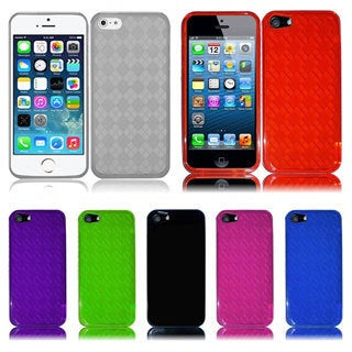 INSTEN Red Argyle TPU Rubber Candy Skin Phone Case Cover for Apple iPhone 5/ 5S