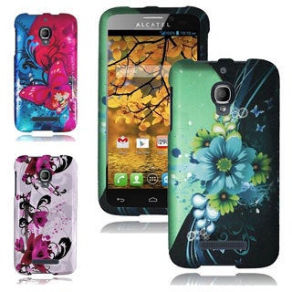 INSTEN Hard Plastic Rubberized Phone Case Cover for Alcatel One Touch Fierce 7024W