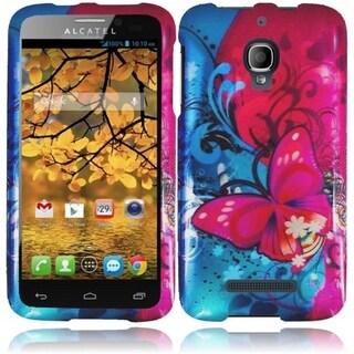 INSTEN Hard Plastic Rubberized Phone Case Cover for Alcatel One Touch Fierce 7024W