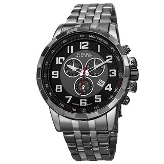 August Steiner Men's Swiss Quartz Chronograph Watch with Stainless Steel Bracelet