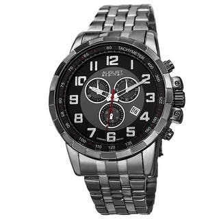 August Steiner Men's Swiss Quartz Chronograph Watch with Stainless Steel Bracelet with FREE GIFT|https://ak1.ostkcdn.com/images/products/9082234/P16272923.jpg?impolicy=medium
