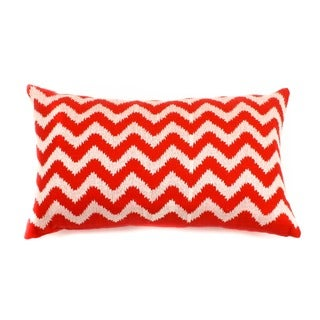 12 x 20-inch Red Zig Zag Decorative Throw Pillow