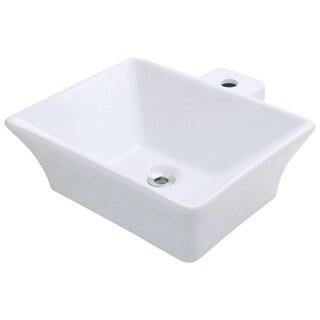 Polaris Sinks P092VW White Porcelain Vessel Sink