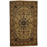 Herat Oriental Persian Hand-knotted Nain Wool and Silk Rug - 4'3 x 7'