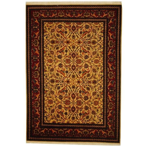 Herat Oriental Turkish Hand-knotted Hereke Wool Rug (5'4 x 7'4)