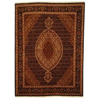 Herat Oriental Persian Hand-knotted Tabriz Wool and Silk Rug (5' x 6'8)