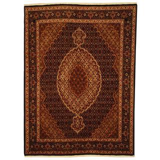 Handmade Herat Oriental Persian Tabriz Wool and Silk Rug (Iran) - 5' x 6'8