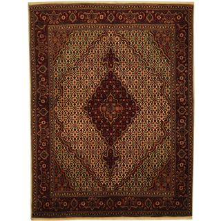 Herat Oriental Persian Hand-knotted Tabriz Wool and Silk Rug (4'10 x 6'4)