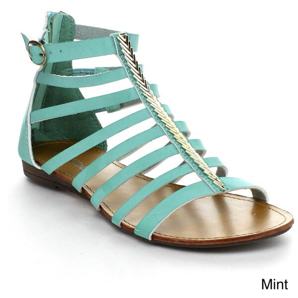 Bumper Women's 'Lory-107A' Strappy Gladiator Sandals