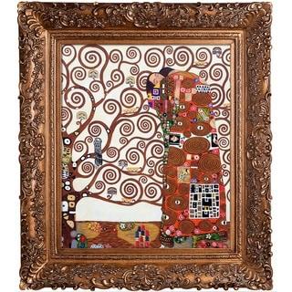 Gustav Klimt 'Fulfillment (The Embrace )Hand Painted Framed Canvas Art