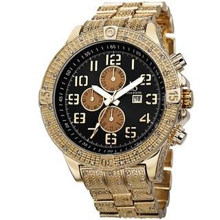 Joshua & Sons Men's Bold Multifunction Dazzling Gold-Tone Bracelet Watch