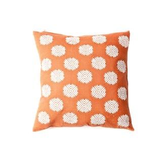 18 x 18-inch Sufi Rust Orange Decorative Throw Pillow