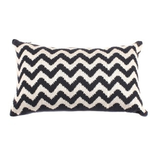 12 x 20-inch Navy Zig-zag Decorative Throw Pillow