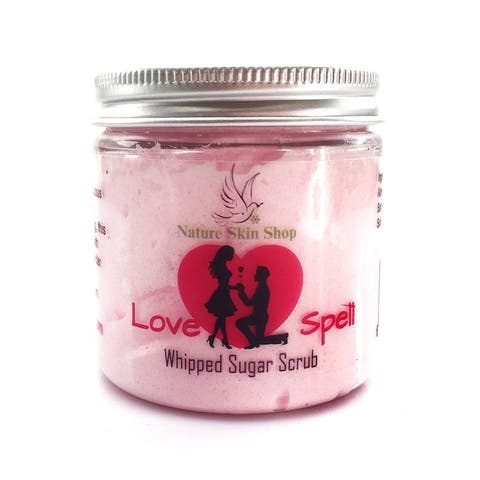 Handmade 5 Ounce Love Spell Soothing Whipped Sugar Scrub Soap