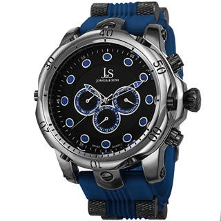Joshua & Sons Men's Multifunction Swiss Quartz Rubber Blue Strap Watch with FREE GIFT|https://ak1.ostkcdn.com/images/products/9082627/Joshua-Sons-Mens-Multifunction-Swiss-Quartz-Rubber-Strap-Watch-P16273467L.jpg?impolicy=medium