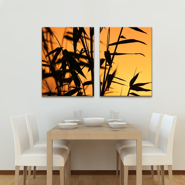 Nicola Lugo 'Bamboo' Canvas Wall Art (2-piece)