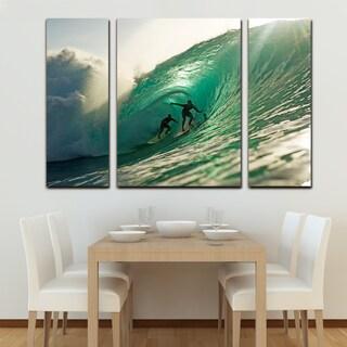 Nicola Lugo 'Surf' Canvas Wall Art (3-piece)