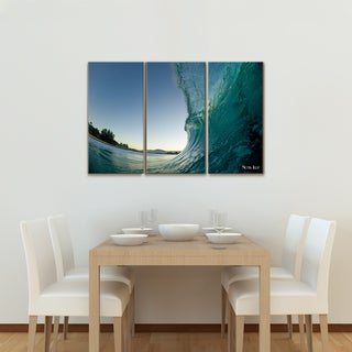 Nicola Lugo 'Waves' Canvas Wall Art (3-piece)