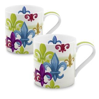 Konitz Fleur de Lis Mug (Set of 2)
