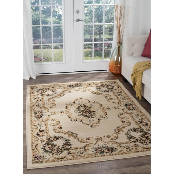 Copper Grove Tunxis Beige Traditional Area Rug - 9'3 x 12'6