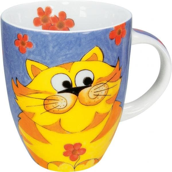 Konitz Cuddly Cartoon Cat Mugs (Set of 4)