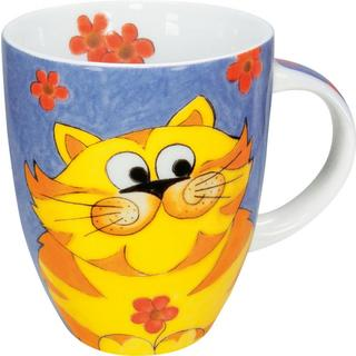 Konitz Cuddly Cartoon Cat Mugs (Set of 4)