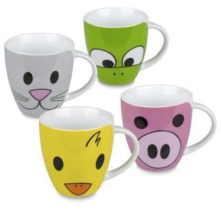 Konitz Children's Animal Mugs (Set of 4)