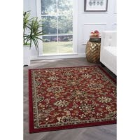 Alise Lagoon Red Transitional Area Rug - 9'3 x 12'6